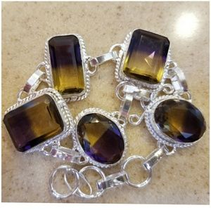 "Ametrine Bracelet 8.25""   fit 7"" to 8"" Wrist"